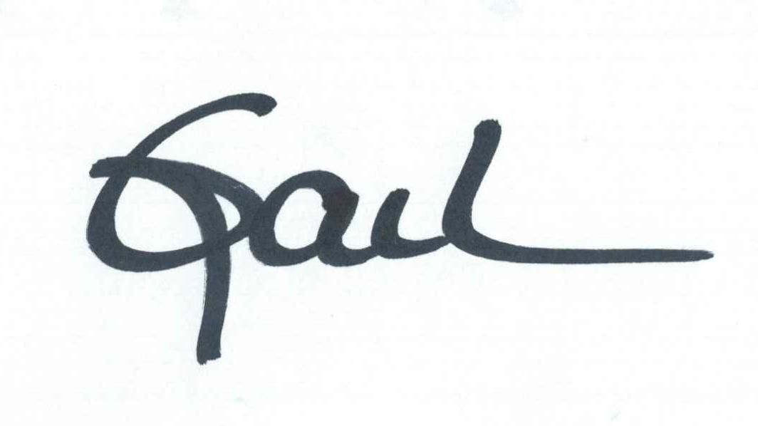 Gail Corrow's Signature