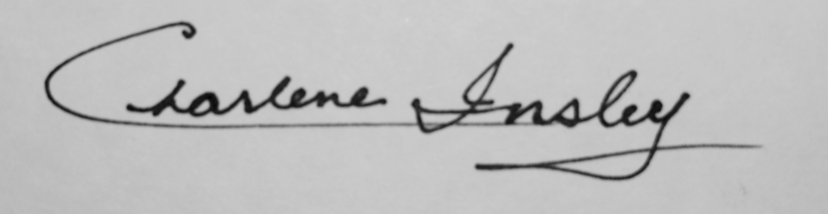 Charlene Insley's Signature