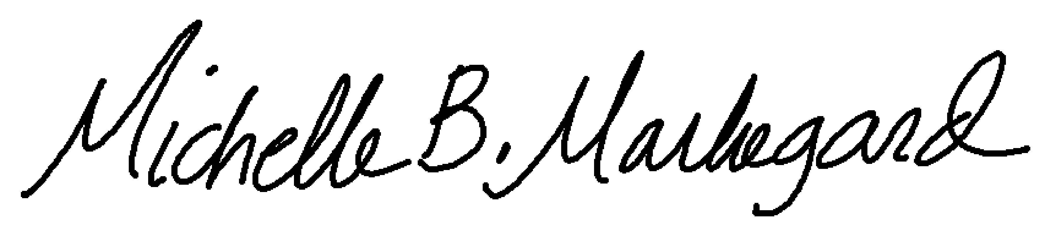 Michelle Markegard's Signature