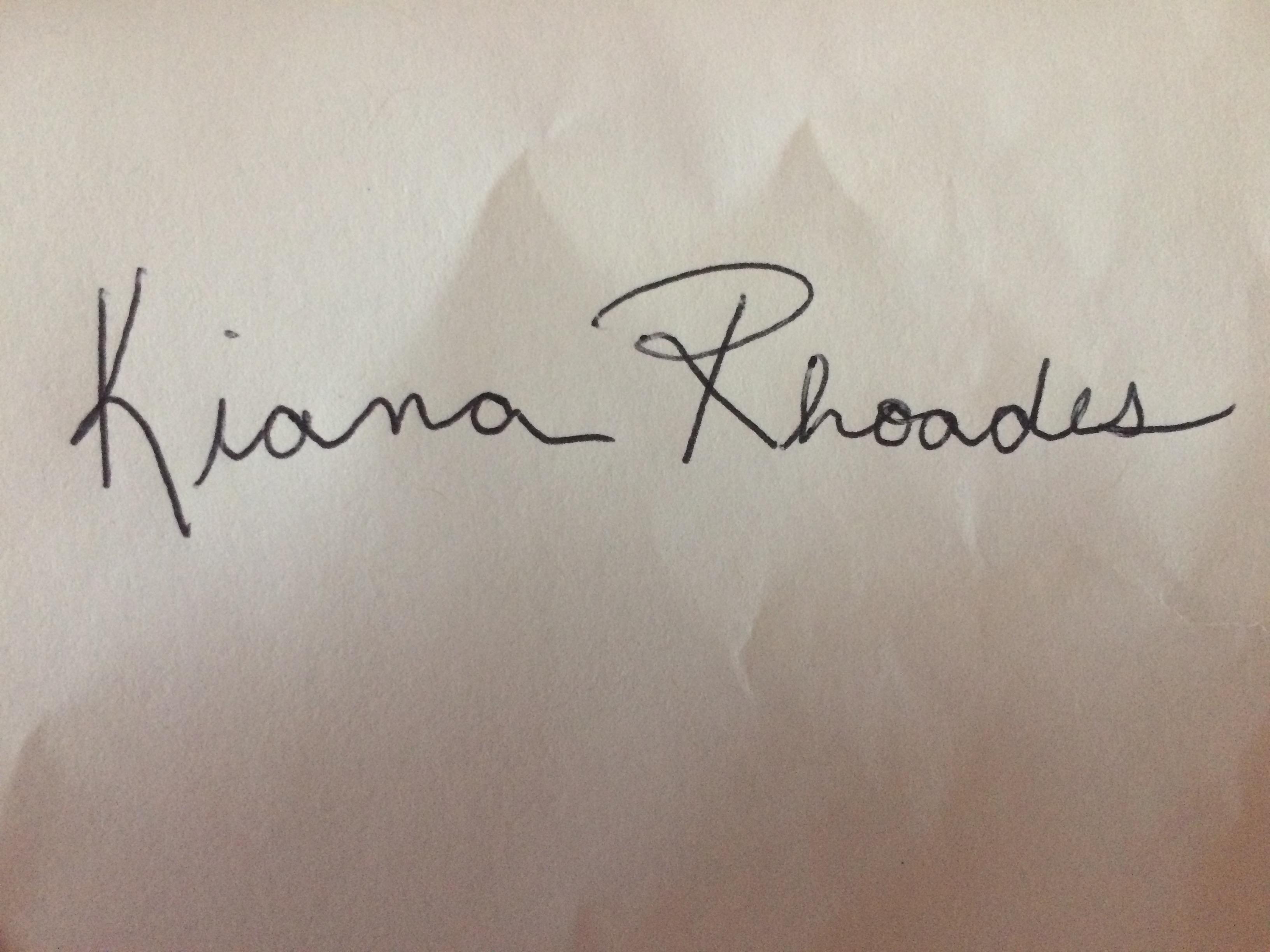 Kiana Rhoades's Signature