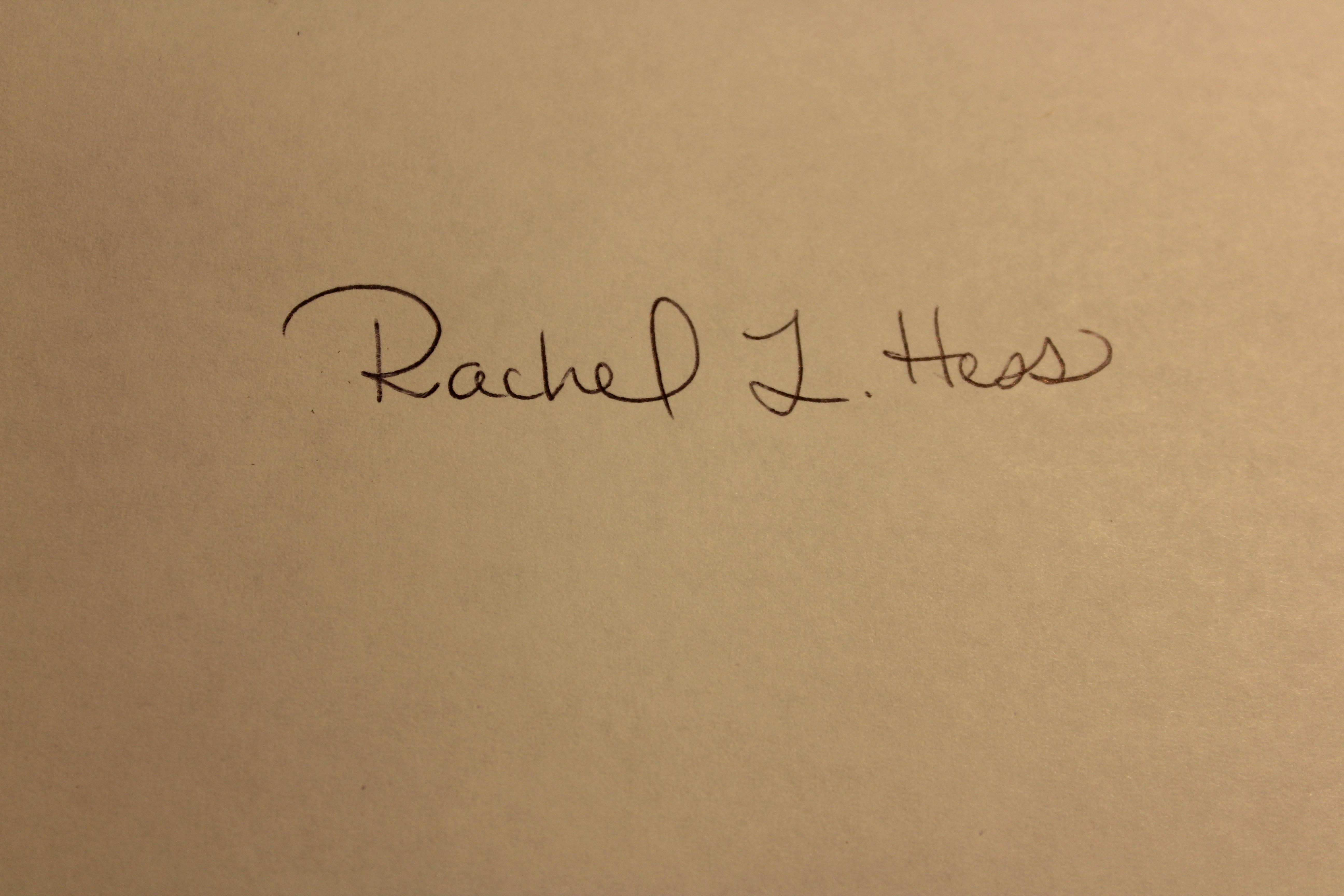 Rachel Hess's Signature