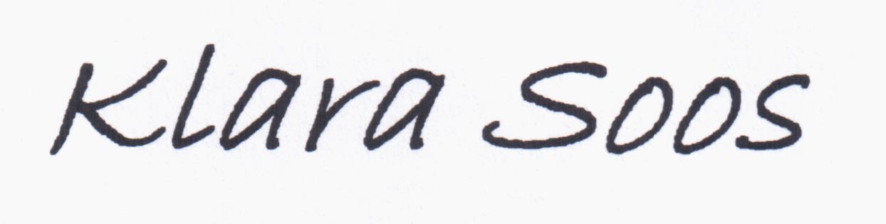 Klara Soos's Signature