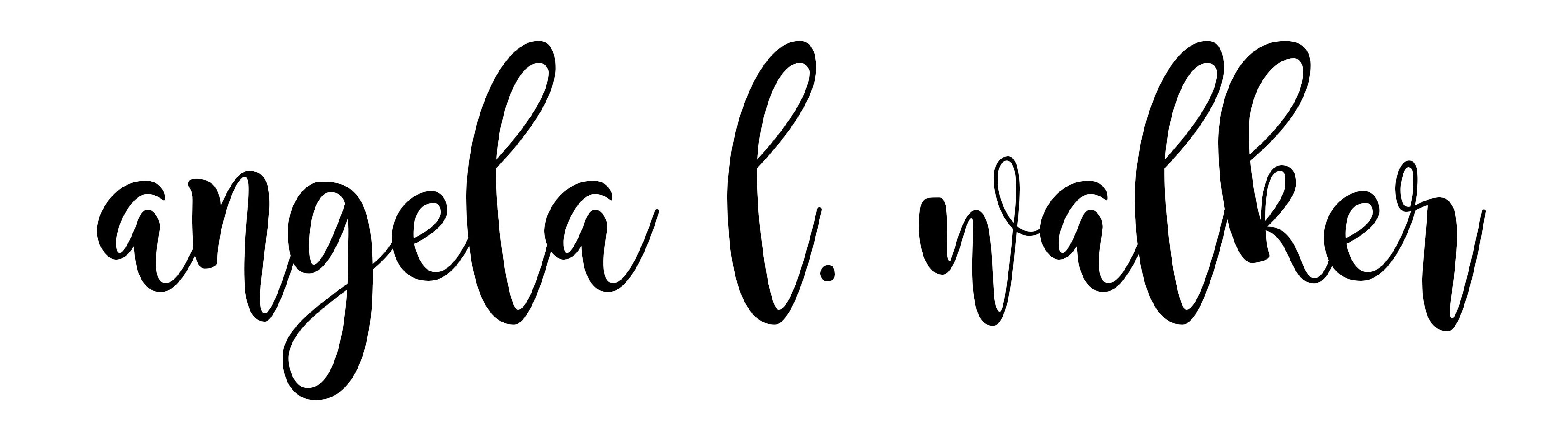 angela l. walker's Signature