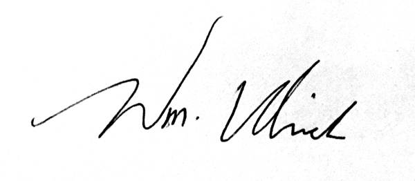 William Ulrich's Signature