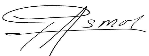 Felix Miguel Asmar Soriano's Signature