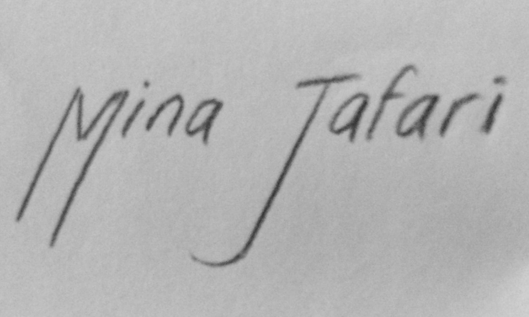 Mina Jafari's Signature