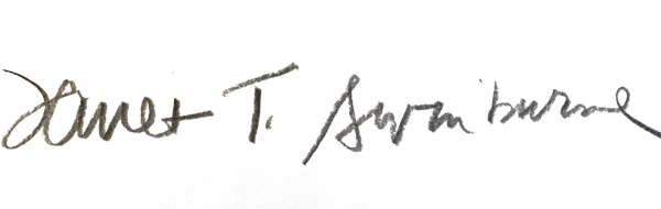 Janet Swinburne's Signature