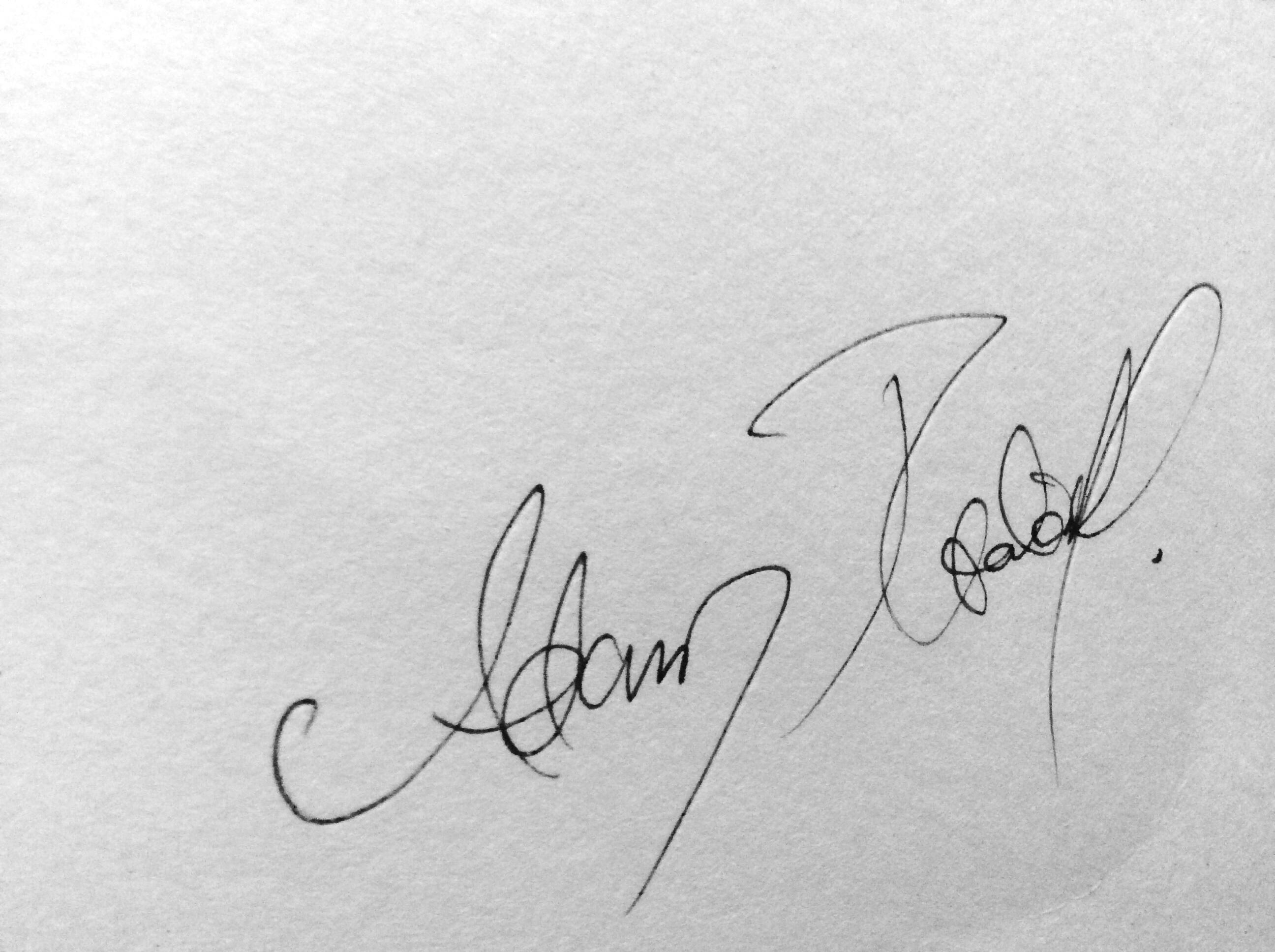 Adam Ptacek's Signature