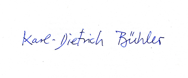Karl-dietRICH Bühler's Signature