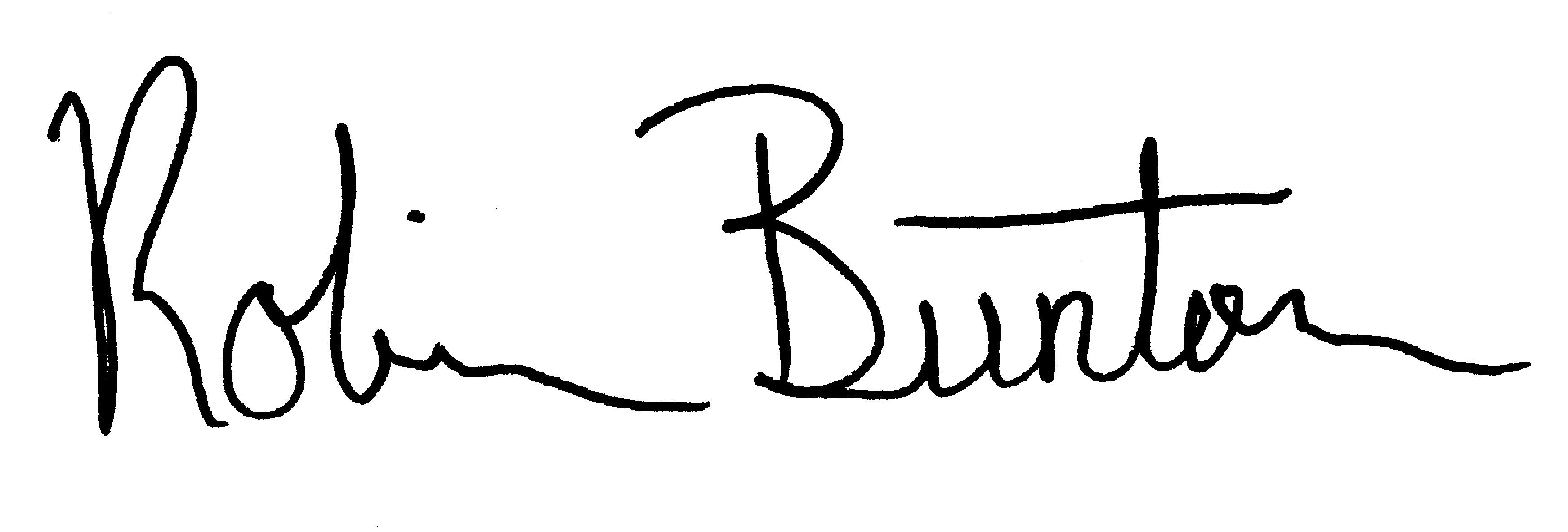 Robin Bunton's Signature