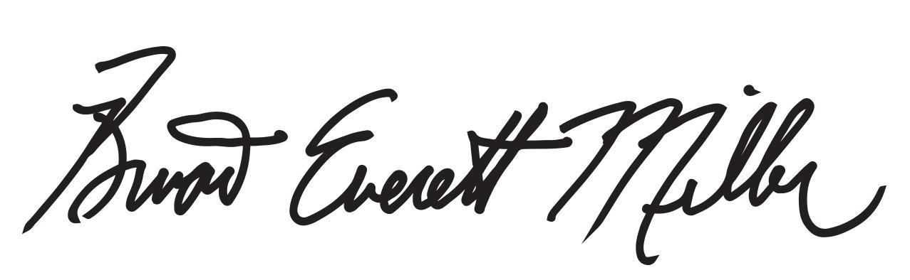 Brian Everett Miller's Signature