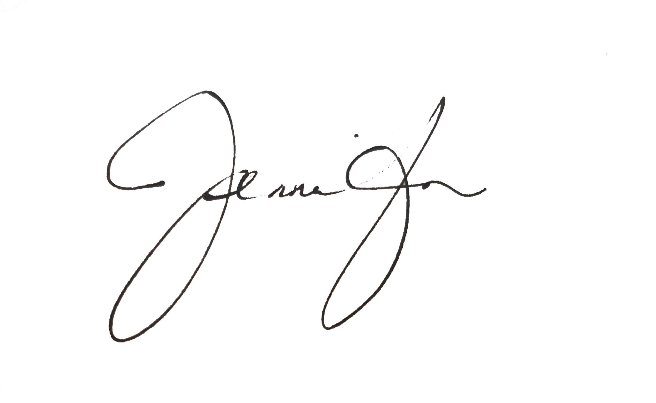 Jennifer M. Gifford's Signature