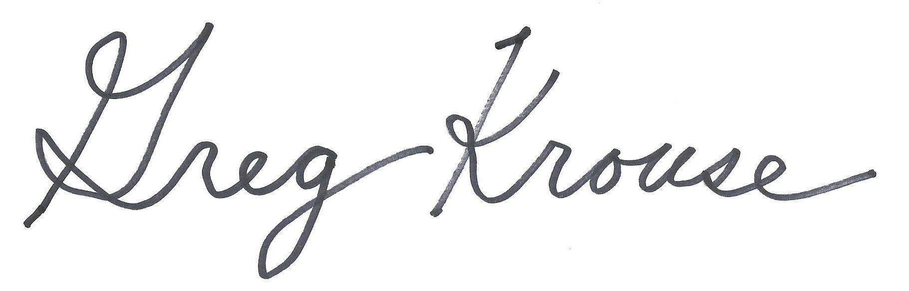 gregory krouse's Signature