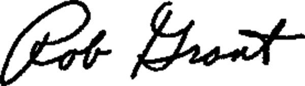 Rob Grant's Signature