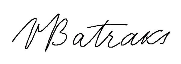 Valda Batraks's Signature