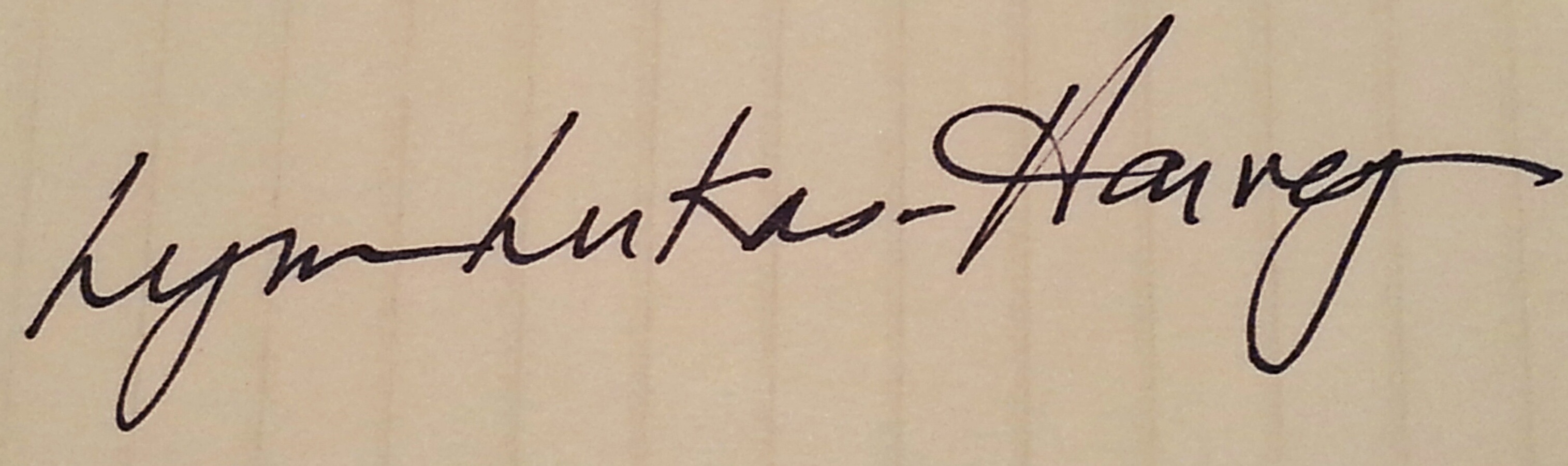 Lynn Lukas-Harvey's Signature
