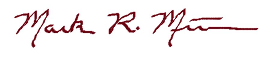 Mark Minier's Signature