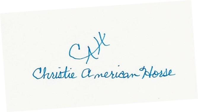 Christie American Horse's Signature
