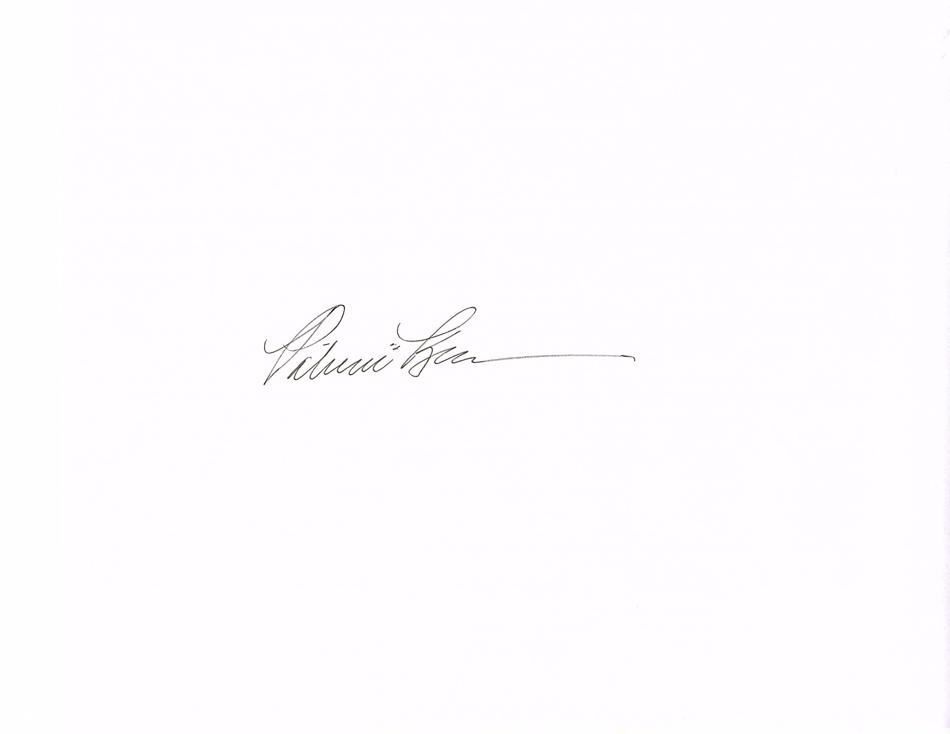Patricia Sablak's Signature
