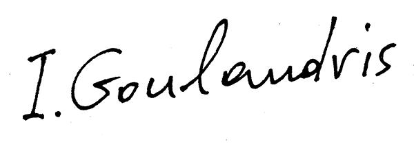irene Goulandris's Signature