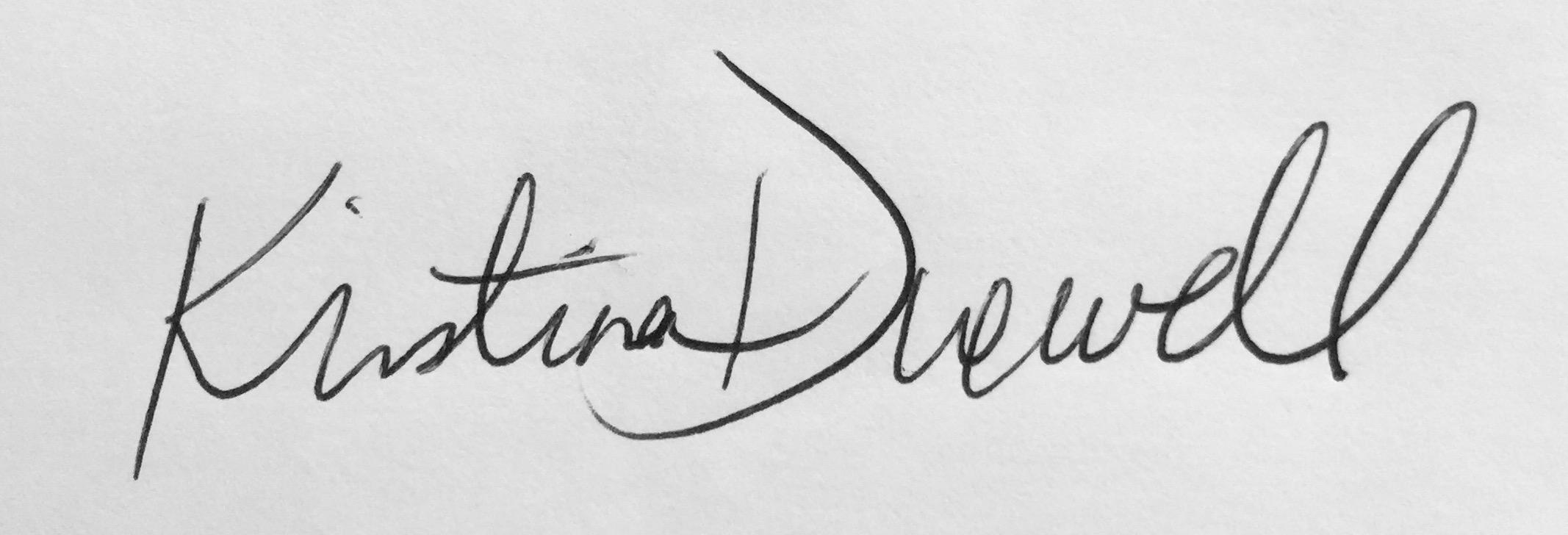Kristina Duewell's Signature