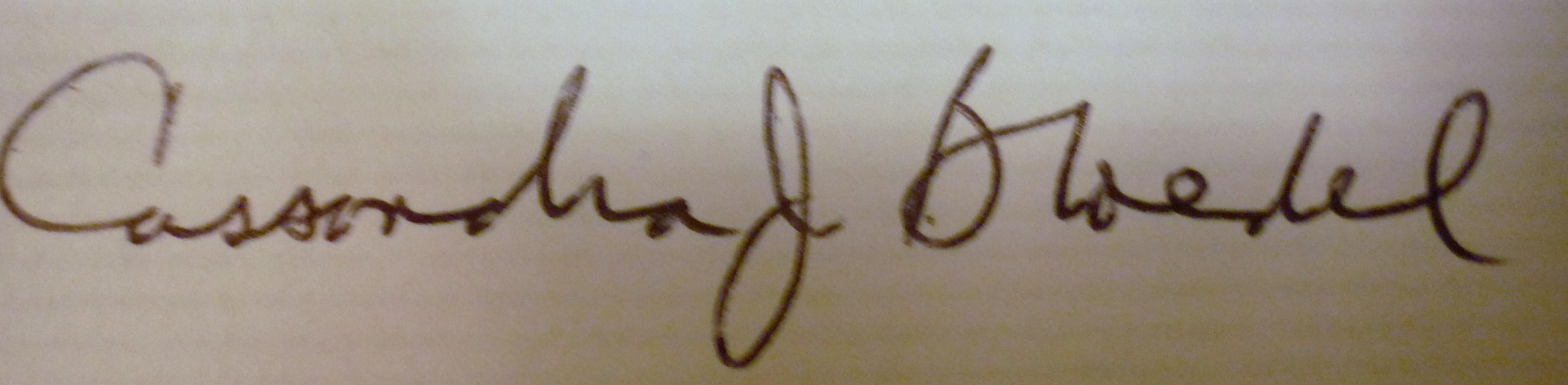 Cassandra Bloedel's Signature