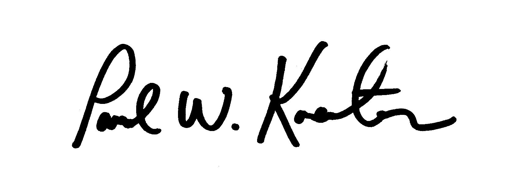 Paul Koester's Signature