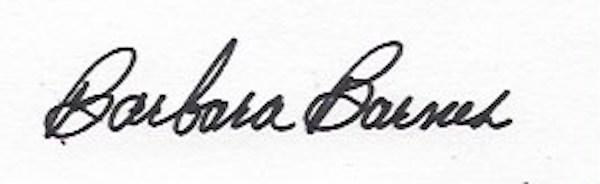 barbara barnes's Signature