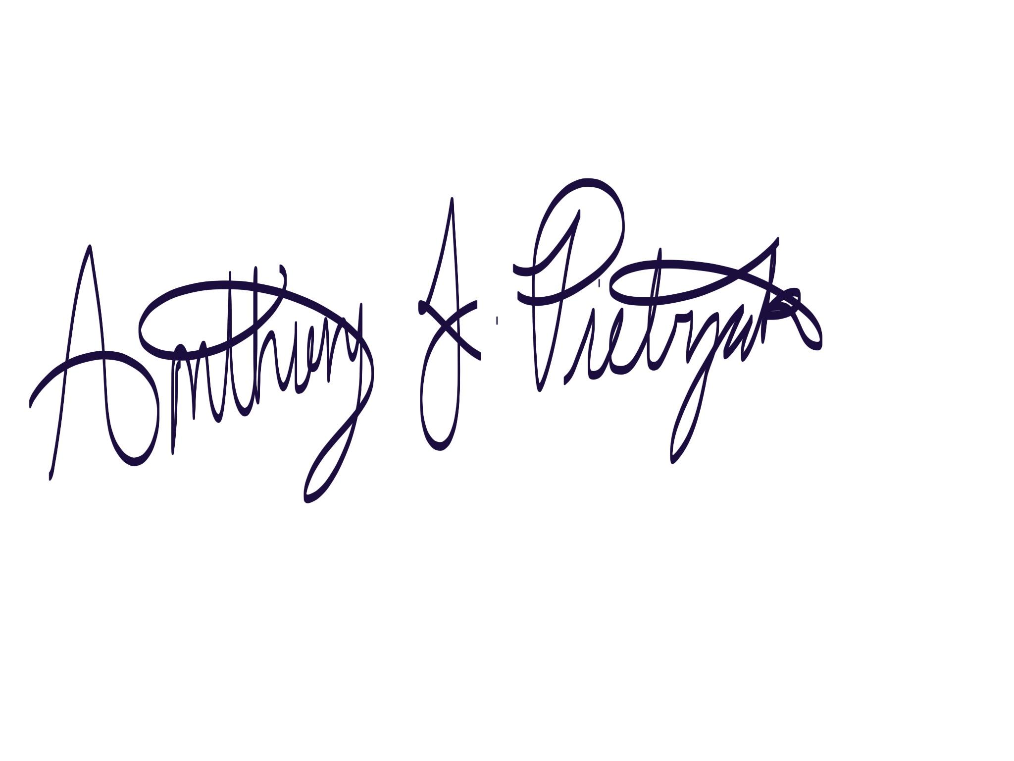 Anthony Pietrzak's Signature