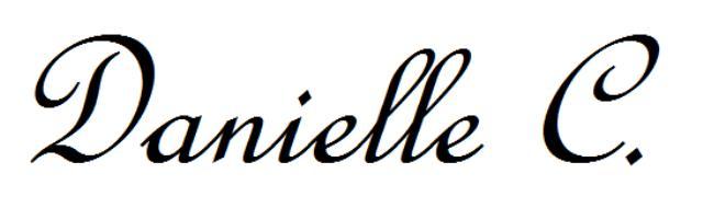 Danielle Cotoc's Signature