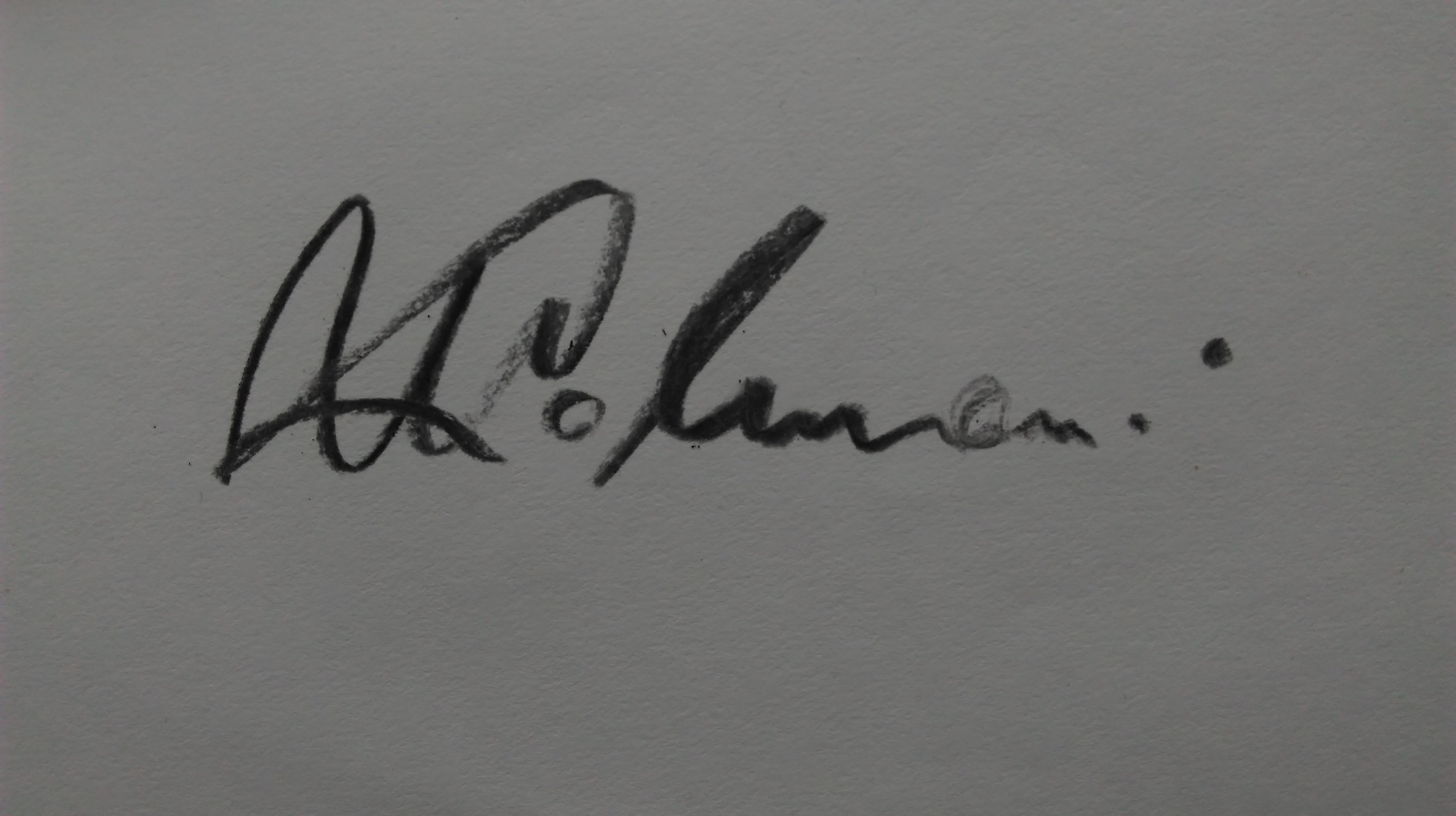 Marija Kolmanic's Signature