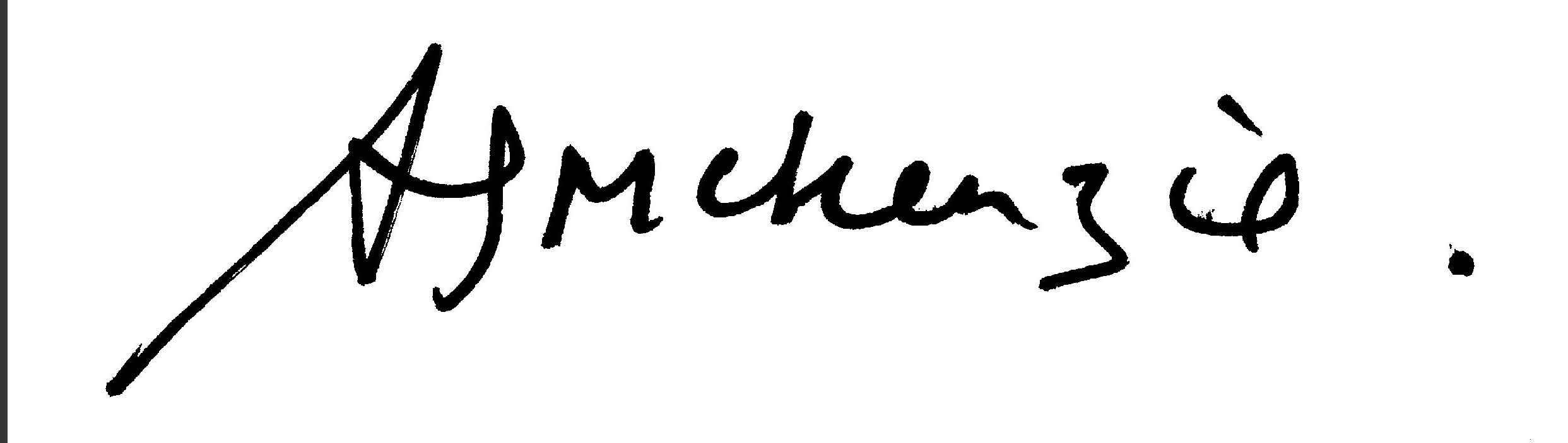 angie Mckenzie's Signature