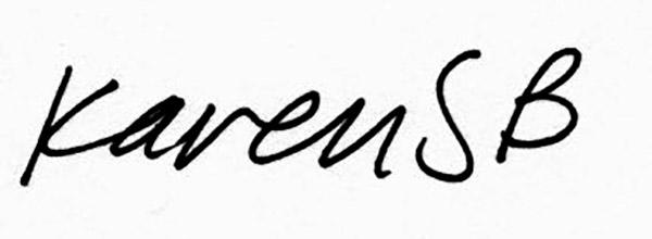 karen Stead Baigrie's Signature
