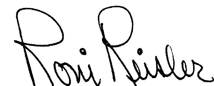 Roni Reisler's Signature