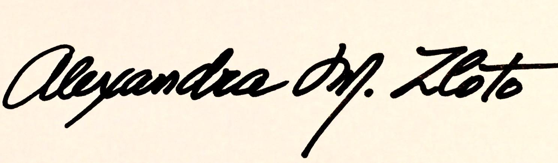 ALEXANDRA   M.   ZLOTO's Signature