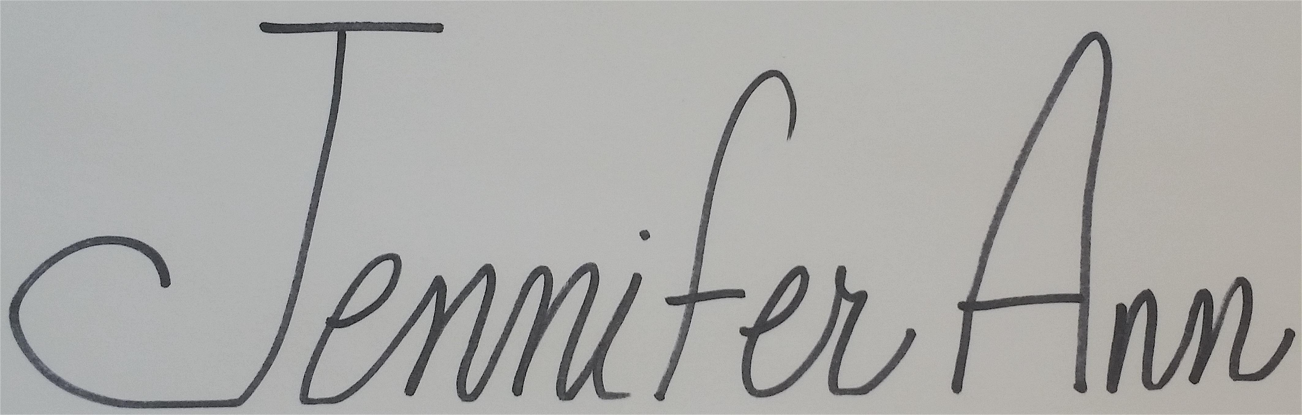 jennifer ANN Rogers's Signature