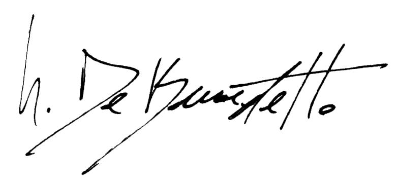 giovanni de benedetto's Signature