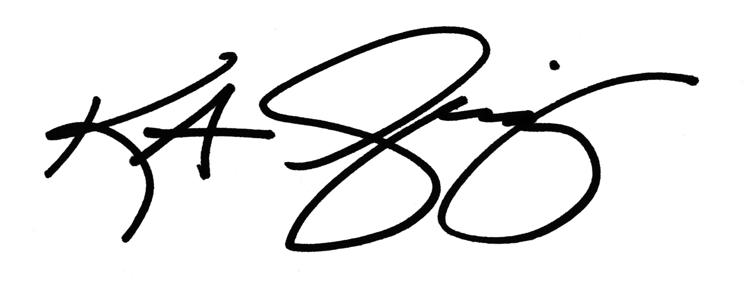 kristine a greenizen's Signature