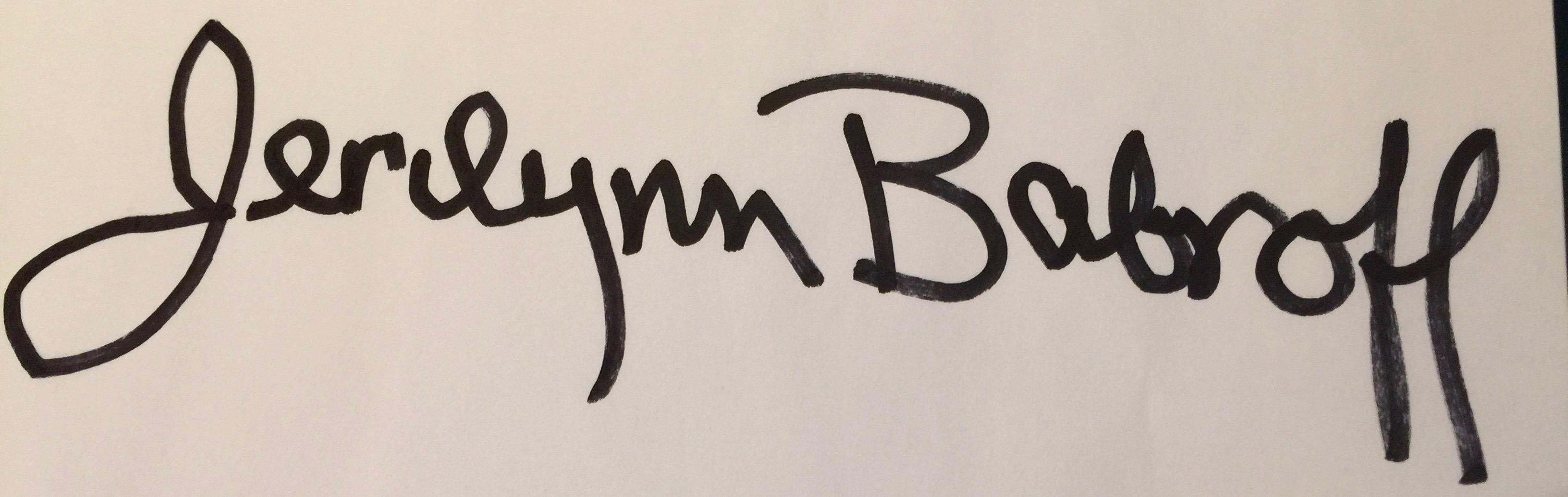 Jerilynn Babroff's Signature
