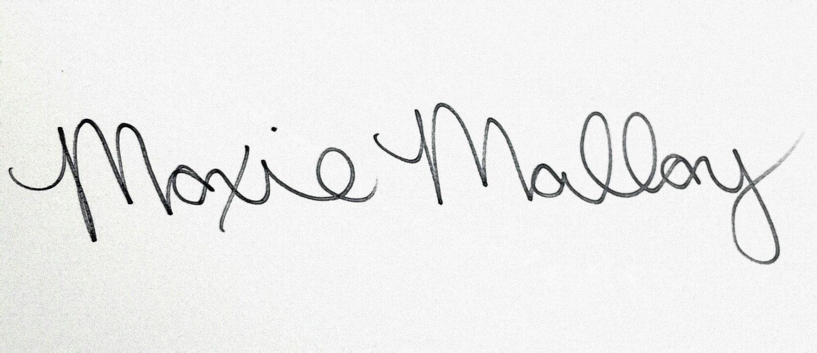 Moxie Malloy's Signature