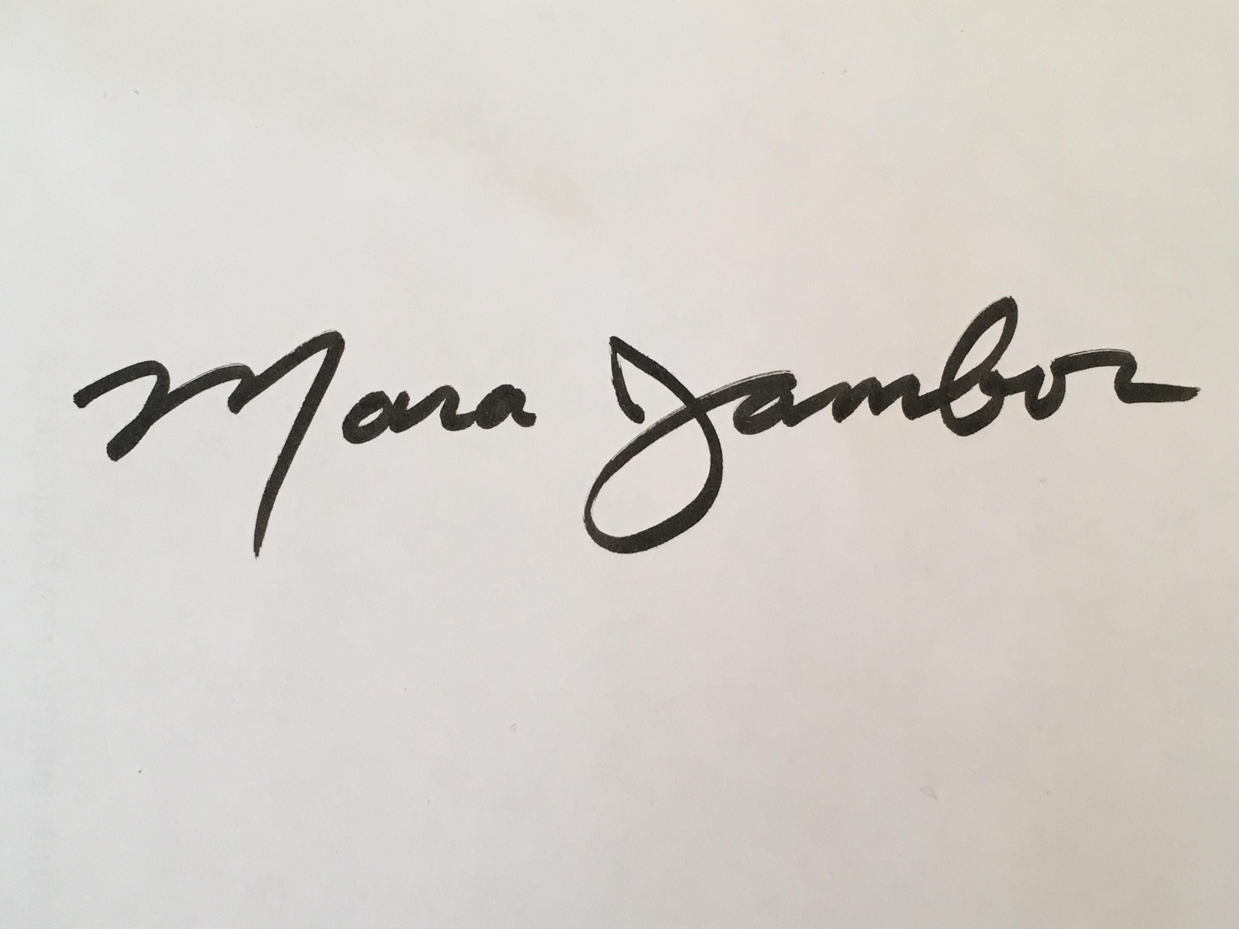 Mara Jambor's Signature