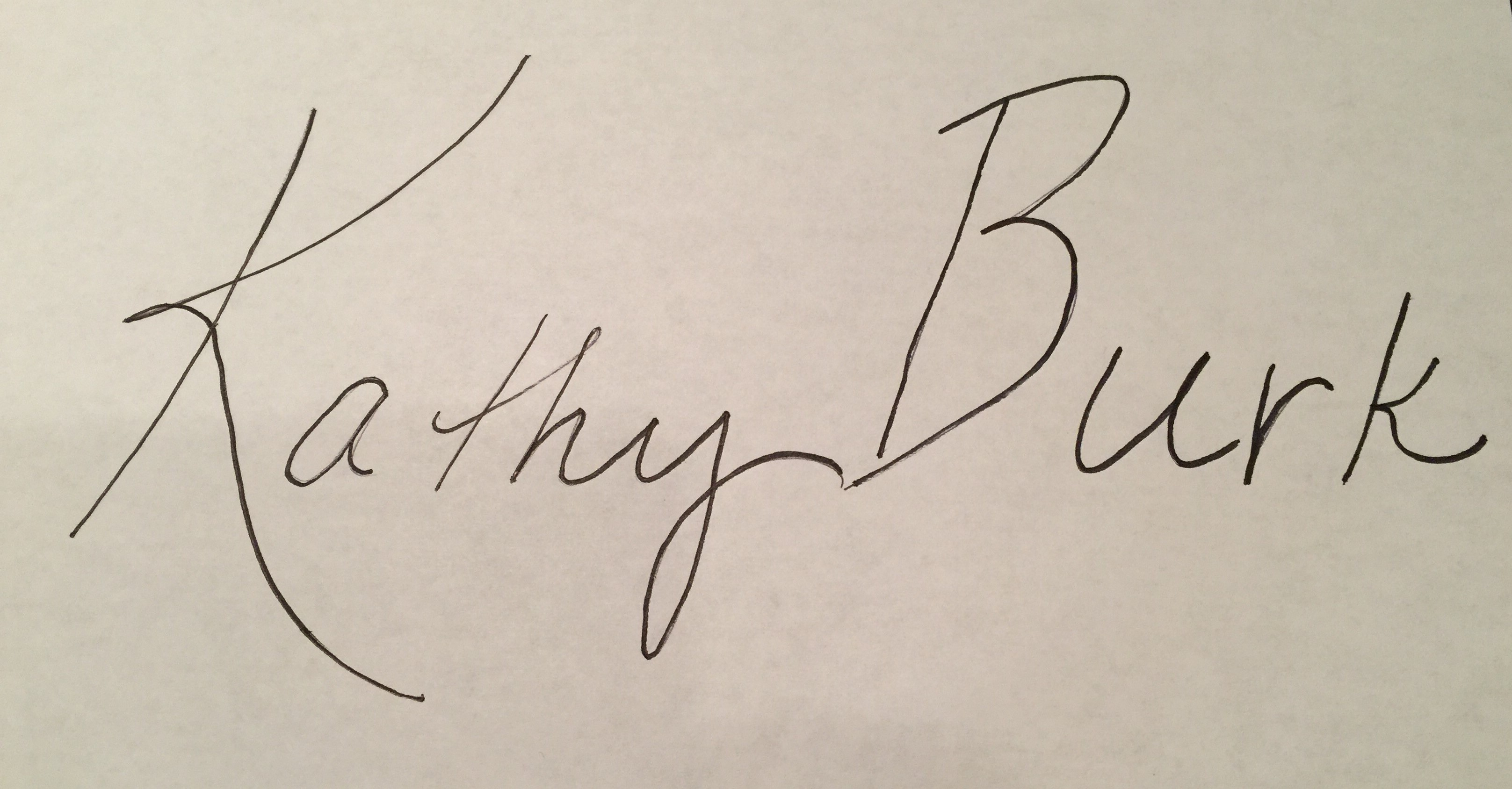 Kathy Burk's Signature