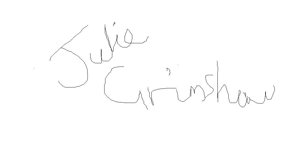 Julie Grimshaw's Signature