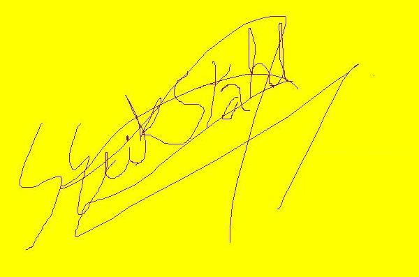 Erik Stahl's Signature