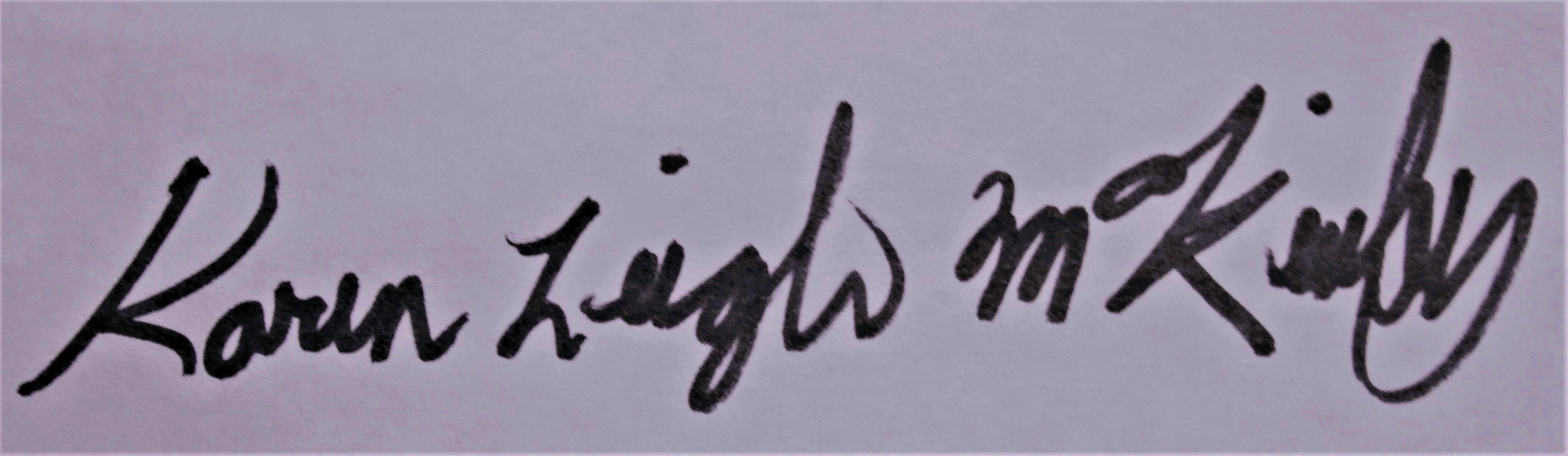 karen leigh mckinley's Signature
