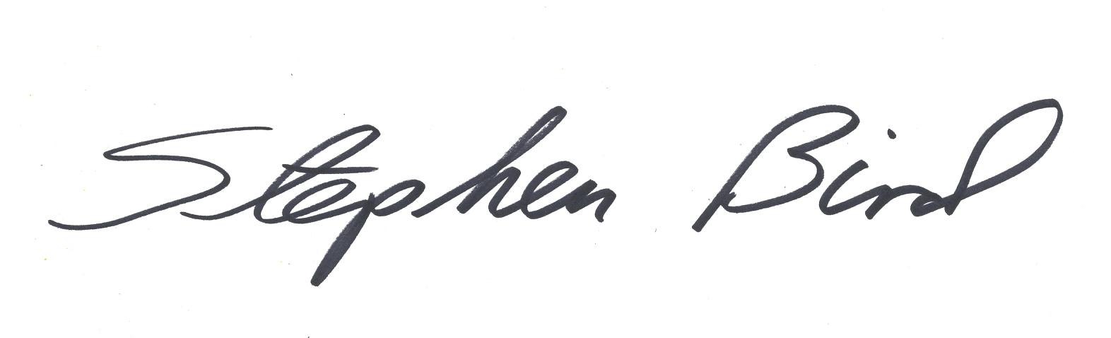Stephen Bird's Signature