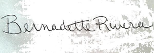 Bernadette Rivera's Signature