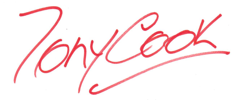 tony cook's Signature