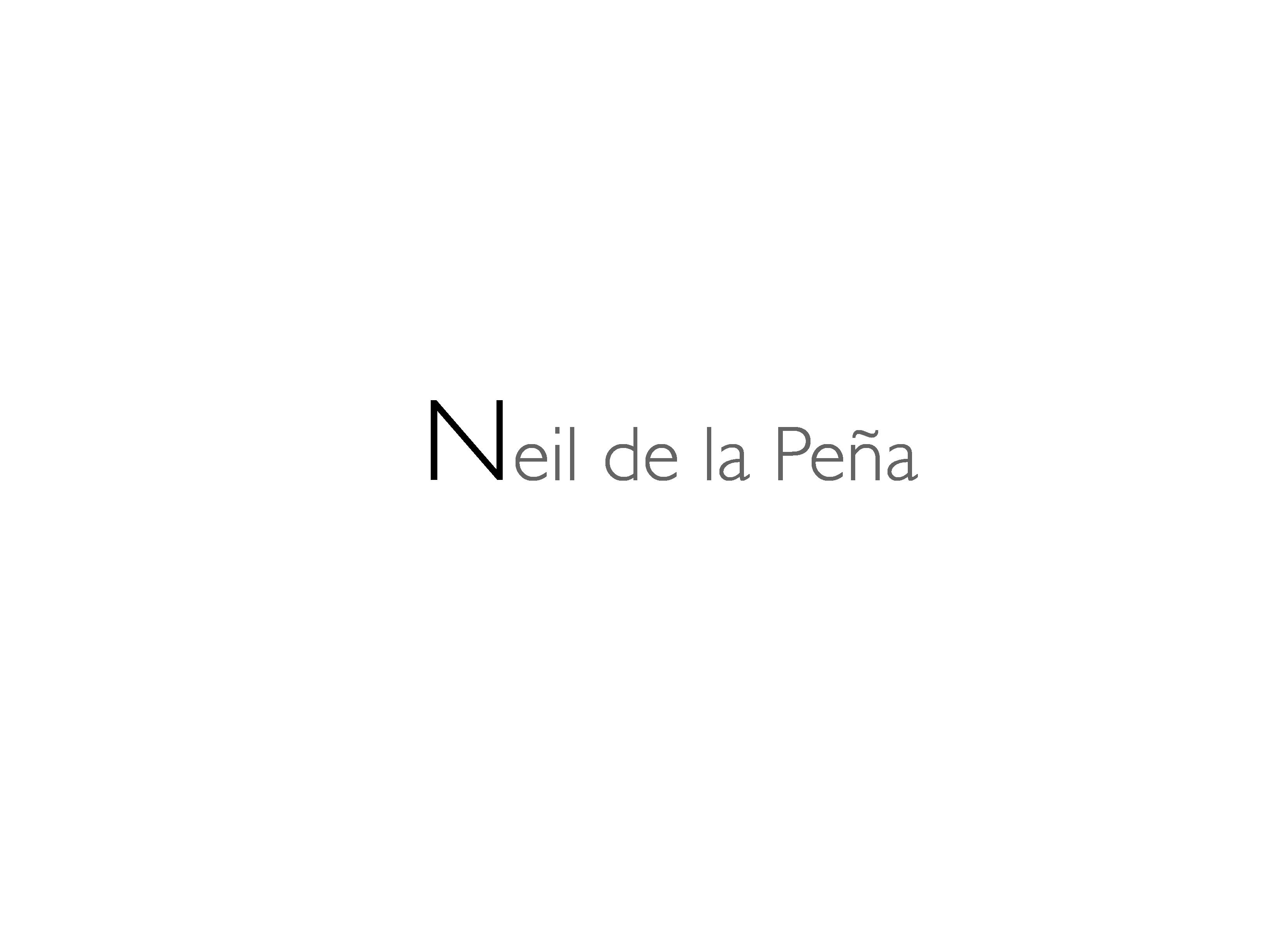 Neil de la Peña's Signature