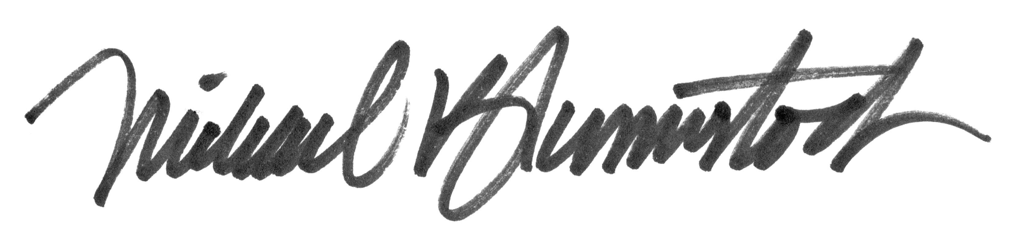 michael blumenstock's Signature